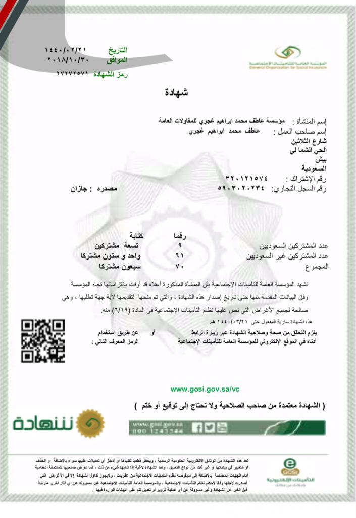 Insurance Certificate (AMGE)